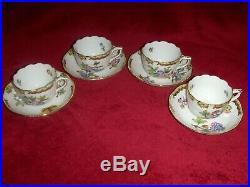 Herend Queen Victoria mocha cup&saucer set of 4