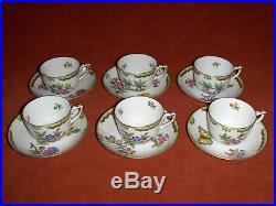 Herend Queen Victoria mocha cup&saucer set of 6. #765