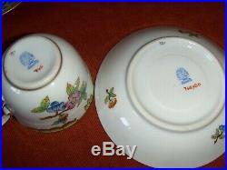 Herend Queen Victoria pattern mocha cup&saucer set of 6