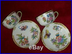 Herend Queen Victoria tea cup&saucer. 2 pcs