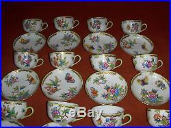 Herend Queen Victoria tea cup&saucer set of 12. 1726VBO