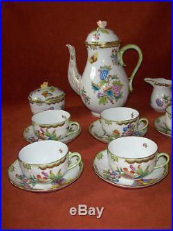 Herend Queen Victoria tea set for 6