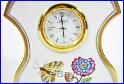 Herend, Queen Victoria (vba) Shelf Clock 4, Handpainted Porcelain