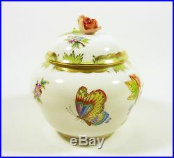 Herend, Queen Victoria (vbo) Large Bonbonniere 4.7, Handpainted Porcelain
