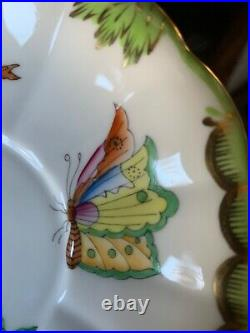 Herend Royal Garden Compote Victoria Evict Dolphin pedestal koi fish hand paint