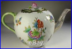 Herend Teapot Queen Victoria 1602 6 1/2