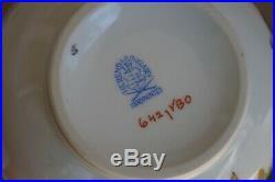 Herend VBO Queen Victoria tea pot & sugar bowl and milk jug for tea set for 6