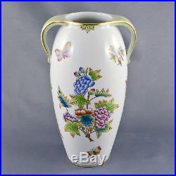 Herend Vase 7182 VBO Queen Victoria 1. Wahl H. 21cm