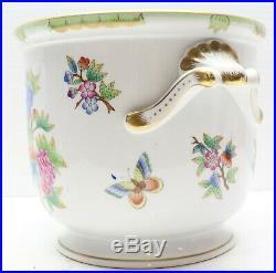 Herend Vintage Queen Victoria HUGE Cache Pot Jardiniere Planter Cachepot