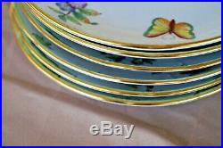 Herend handpainted 6 pcs breakfast plates Queen Victoria VBO pattern