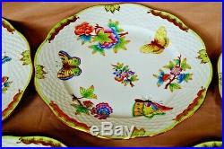 Herend handpainted 6 pcs dessert plates Queen Victoria VBO pattern 19 cm 7,5