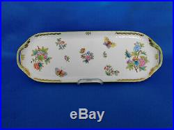 Herend tray green handles Queen victoria pattern handpainted VBO
