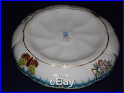 Large Herend Queen Victoria Bonboniere candy box with mallow flowers