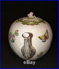 Large Herend Queen Victoria Teapot Tea Pot