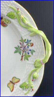MINT HEREND Queen VICTORIA Deep Serving Platter Plate Tray Asparagus Handles