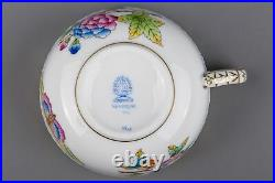 NEW Set of Six Herend Queen Victoria Tea Cups with Saucers, 6 Pieces, #724/VBO