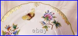 Never Used Herend Queen Victoria 7.5 Salad Plate #1518 24k Gold Rim Butterfly
