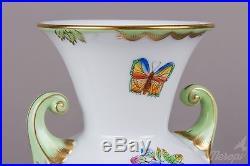 Pair of Herend Queen Victoria Baroque Vases, 2 Pieces, #7183/VBO