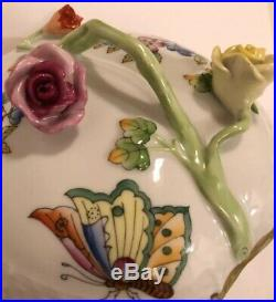 QUEEN VICTORIA MINT Retail $385 LARGE Heart Shaped 5 Herend 24K Gold Porcelain