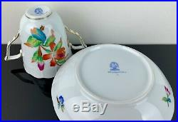 RARE Herend Queen Victoria Trembleuse Chocolate Tea Cup & Saucer MINT CONDITION