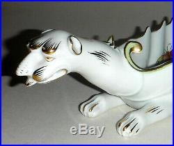 Rare Herend Porcelain Queen Victoria Dragon Dish