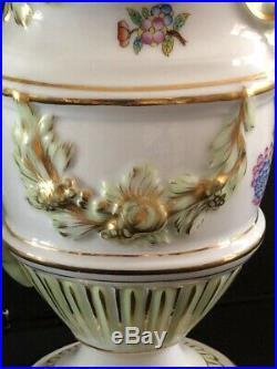 Rare Herend Queen Victoria Jug/Pitcher with Double Snake Handle 12 6625/VBO
