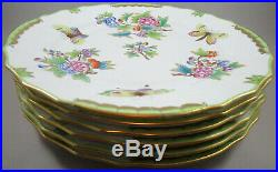 SIX Herend Queen Victoria Dinner Plates