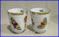 Set of 2 Herend Queen Victoria Tembleuse Cups and Saucers # 713