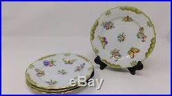 Set of 4 Herend Queen Victoria 6 Dessert Plates
