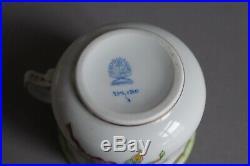 Set of 6 Herend Queen Victoria Pot de Creme Lid & Base 739 VBO