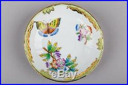 Set of Five Herend Queen Victoria Coffee Mocha Cups with Saucers 1728/VBO