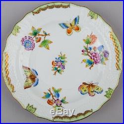 Set of Five Herend Queen Victoria Dessert Plates, 5 Pieces #1518/VBO