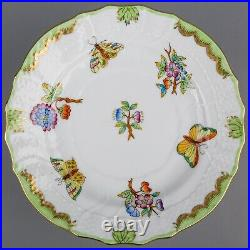 Set of Six Herend Queen Victoria 6 Dessert Plates #1515/VBO