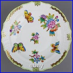 Set of Six Herend Queen Victoria Dessert Plates #1518/VBO