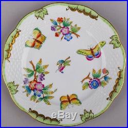 Set of Six Herend Queen Victoria Dessert Plates #516 1/2/VBO