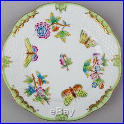 Set of Six Herend Queen Victoria Dessert Plates, #516 1/2/VBO