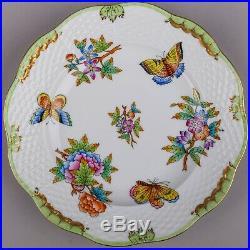 Set of Six Herend Queen Victoria Dessert Plates #518/VBO