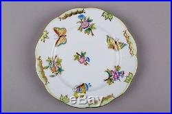 Set of Six Herend Queen Victoria Dessert Plates, 6 Pieces, #515/VBO