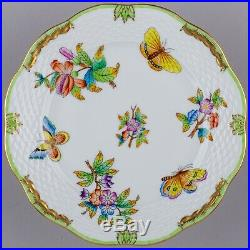 Set of Six Herend Queen Victoria Dessert Plates, 6 Pieces, #517/VBO II