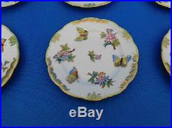 Set of Six Herend Queen Victoria Dessert Plates, 6 pieces # 512 VBO