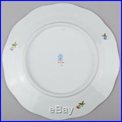 Set of Six Herend Queen Victoria Large Dessert Plates, 6 Pieces, #519/VBO