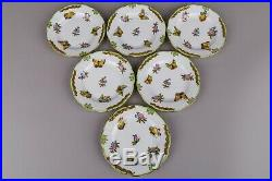 Set of Six Herend Queen Victoria Small Dessert Plates #512/VBO I