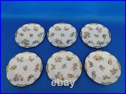 Set of Six Herend Queen Victoria large Dessert Plates, 6 pieces # 517 VBO