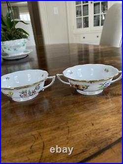 Two Herend Queen Victoria Cream Soup Cups
