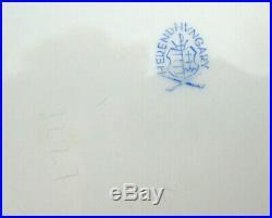 Vintage Herend Porcelain Queen Victoria VBO Ribbed Cachepot Planter #7227 7 D
